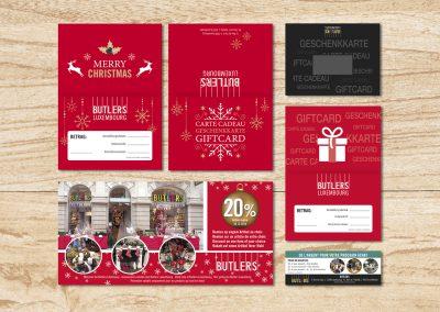 Weihnachtskarten Butlers Luxemburg