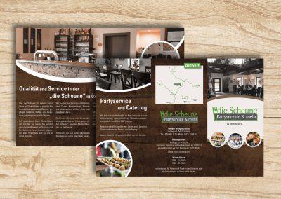 """Flyer für das Restaurant """"Die Scheune"""""""